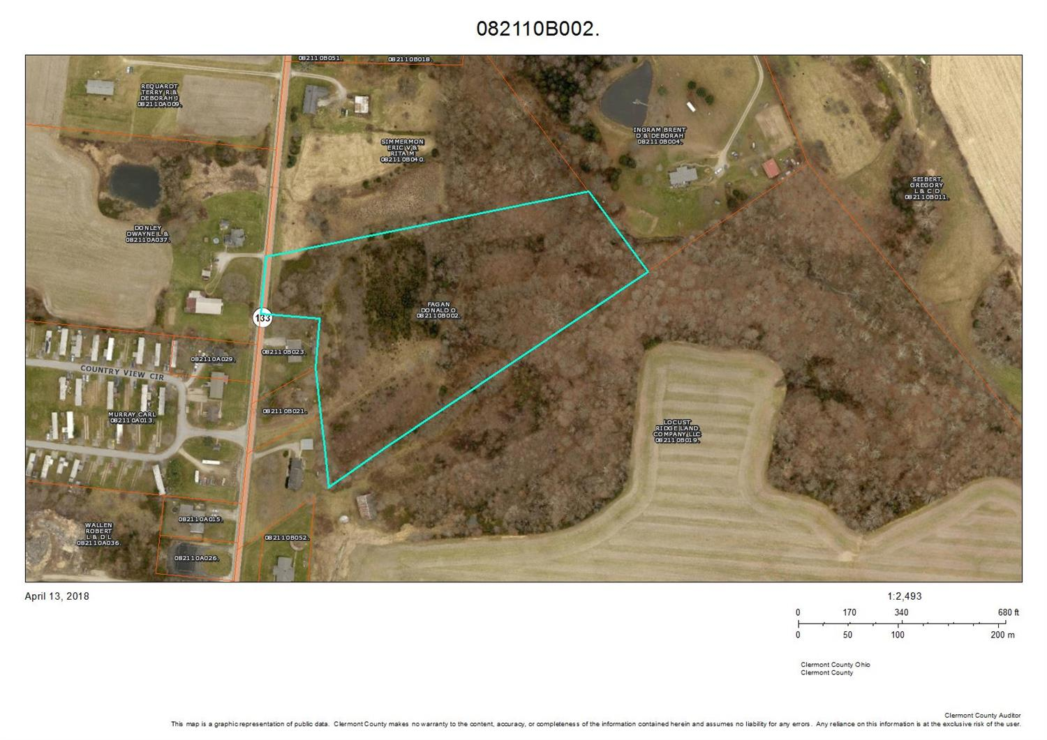 6.43ac St Rt 133 Franklin Twp OH